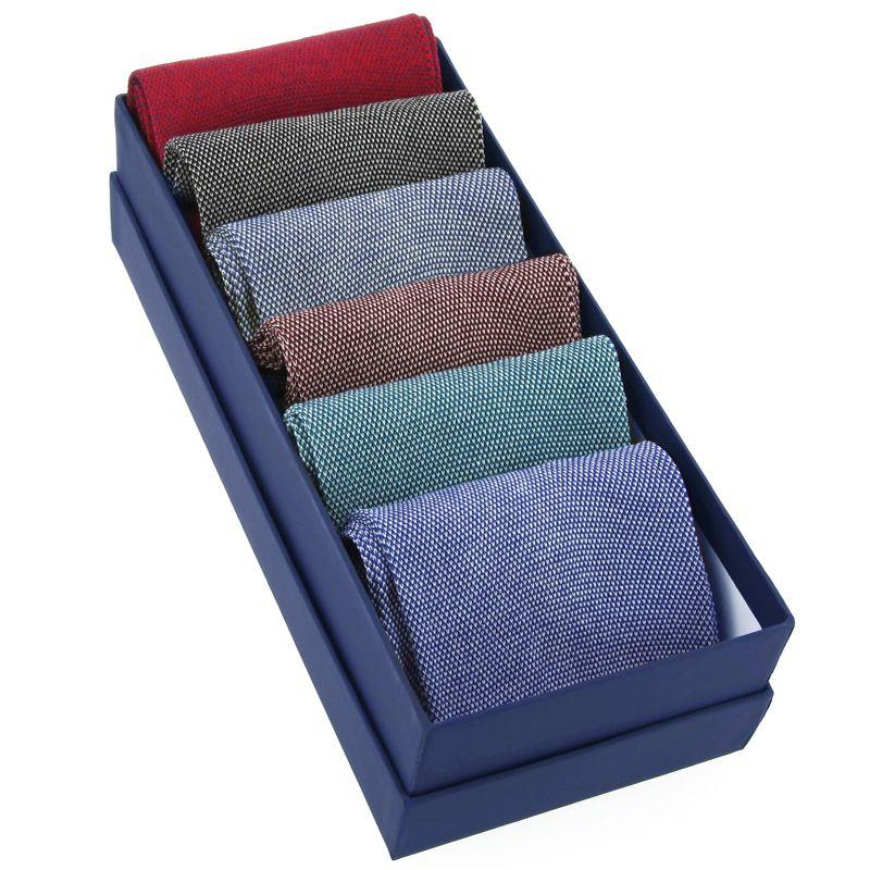 Pack of 6 bird's eye socks, mercerised cotton lisle
