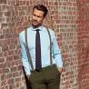 The retro chic shirt - round collar light blue