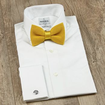 Yellow Knitted Bow Tie - Monza