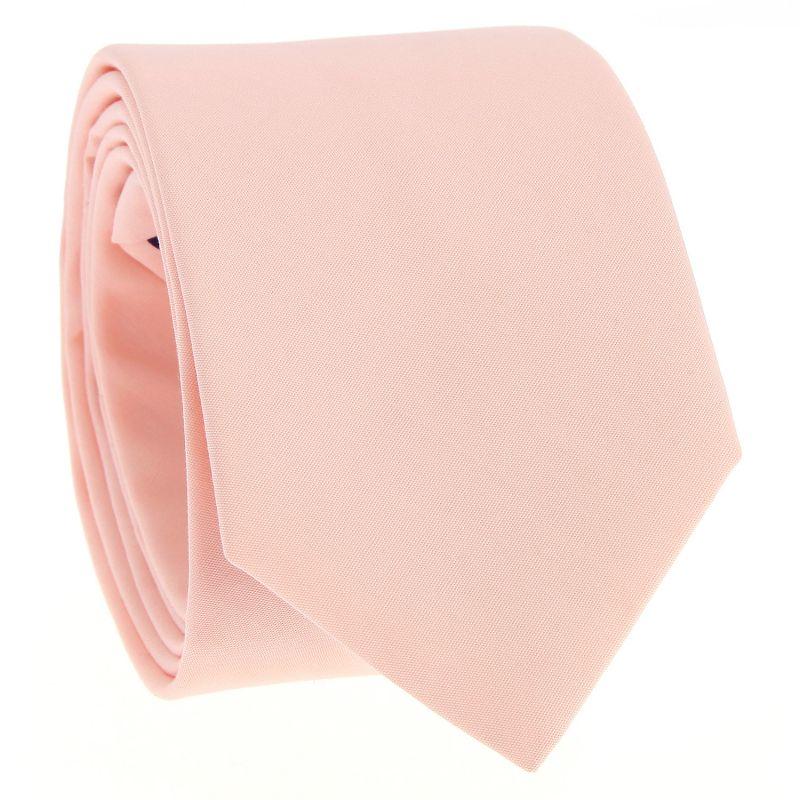 Peach pink cotton tie - Sorrente