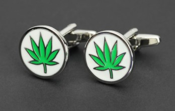Hemp leaf cufflinks - Amsterdam