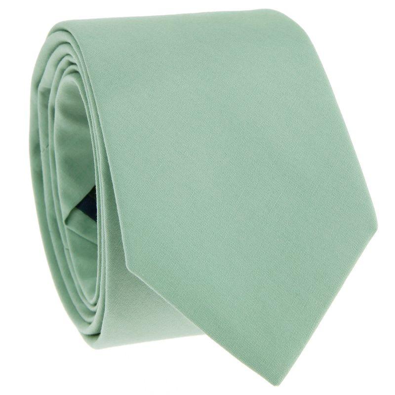 Sage green cotton tie - Sorrente