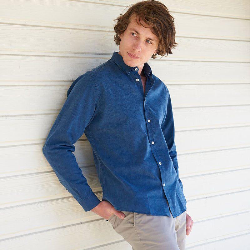 Chambray shirt - French collar