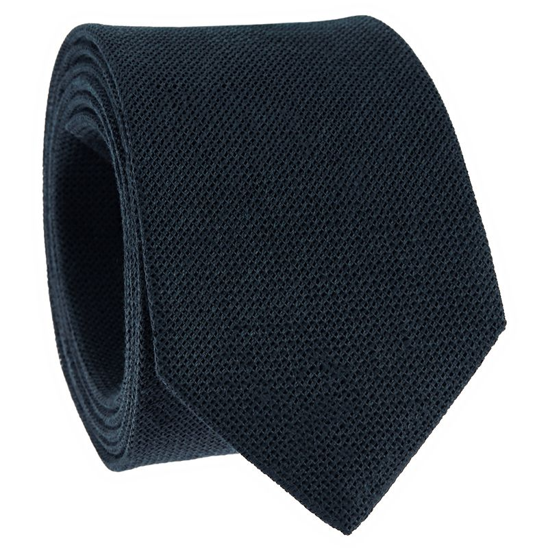 Grenadine Navy Linen and Silk Tie