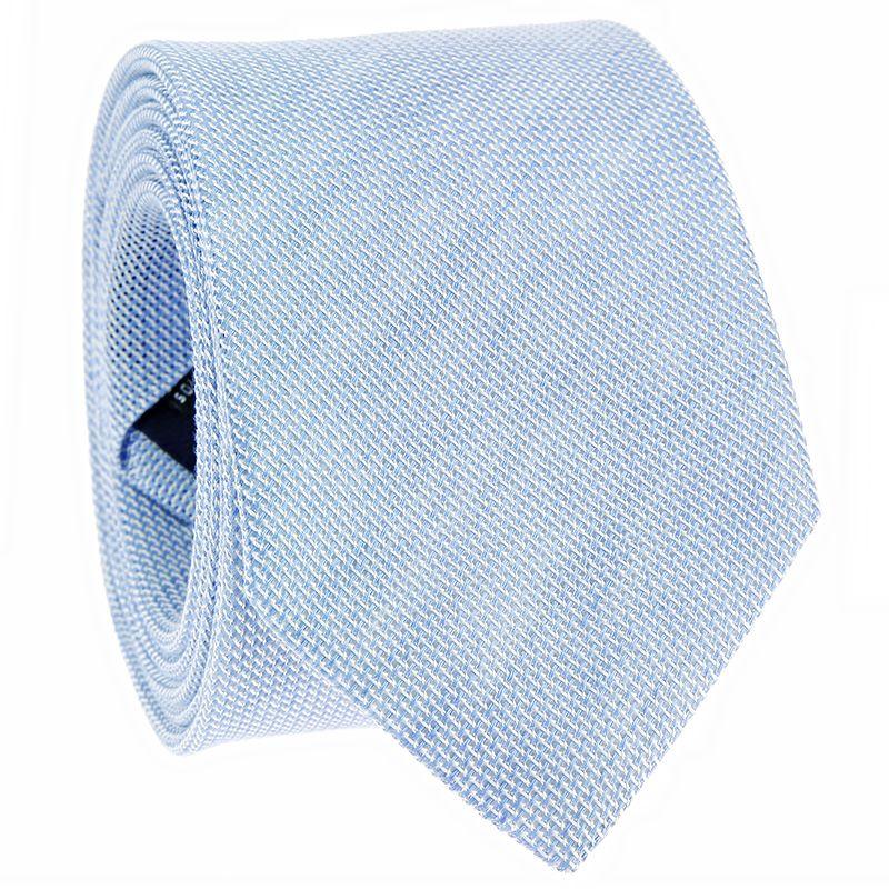 Blue Linen Silk Grenadine Tie