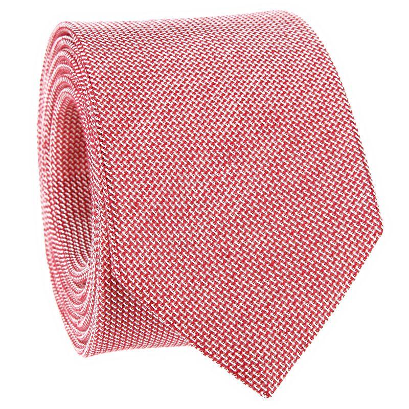 Grenadine Red Linen and Silk Tie