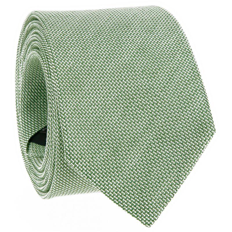 Grenadine Green Linen and Silk Tie