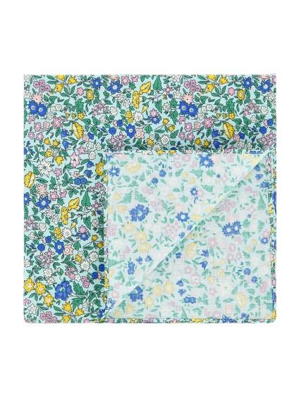Green Liberty pocket square - wildflower