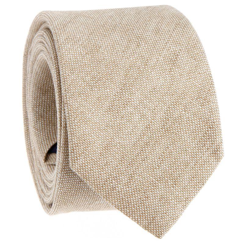 Beige tie in linen