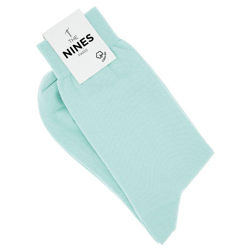Organic cotton socks water green