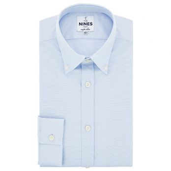 Button-down oxford shirt in icy blue