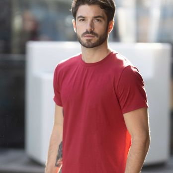 Quick dry T-shirt in Syrah Red