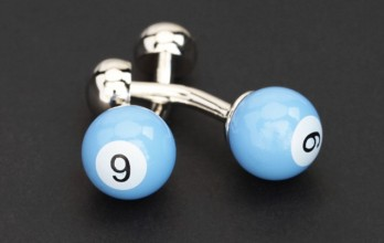 Skyblue billiard ball cufflinks - Blackpool 9