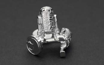 Star Wars cufflinks - Palladium R2D2