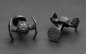 Star Wars cufflinks - Darth Vader TIE Fighter