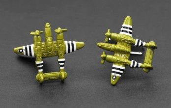 Airplane cufflinks - P-38 Lighting
