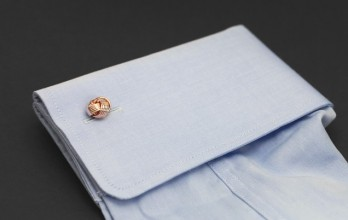 Rose gold cufflinks - Montaigne