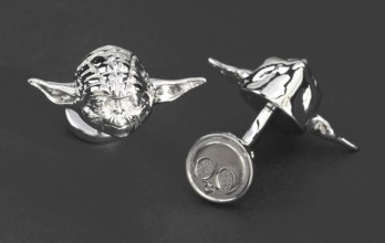 Star Wars cufflinks - Yoda Palladium