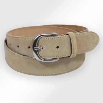 Suede belt in beige - Morgan
