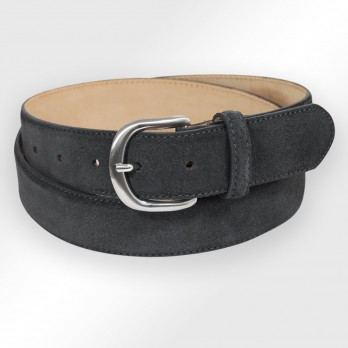 Suede belt in anthracite - Morgan