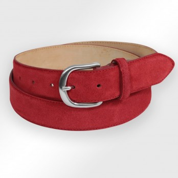 Suede belt in red - Morgan
