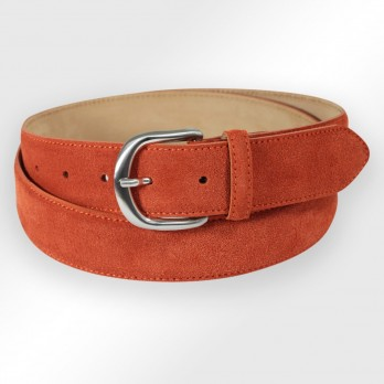Suede belt in earth color - Morgan