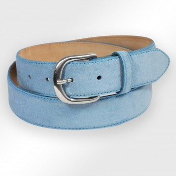 Suede belt in azurblue - Morgan