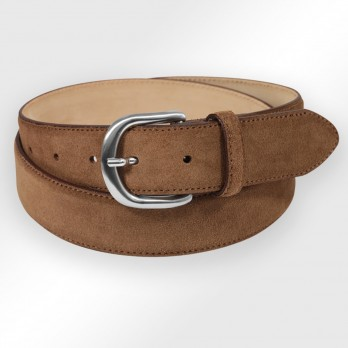 Suede belt in chocolate brown - Morgan