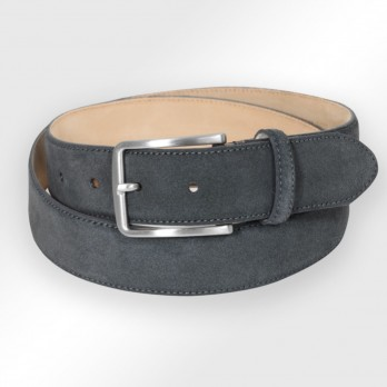Men's belt in anthracite suede - Tom