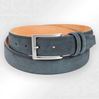 Suede belt in anthracite - Steve III