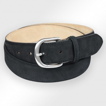 Suede belt in black - Morgan