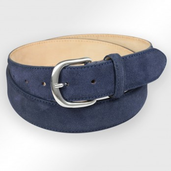 Suede belt in navy blue - Morgan