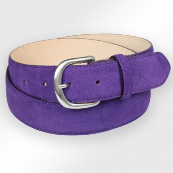 Suede belt in violett - Morgan