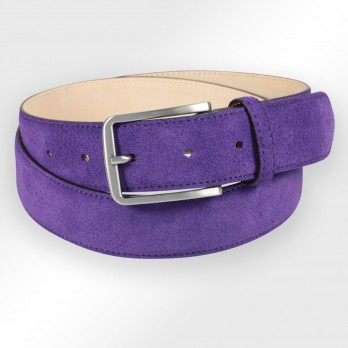TOM VIOLET BELT SUEDE