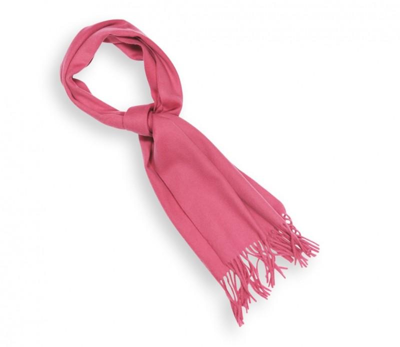 Echarpe unie en laine rose bonbon - Sacha
