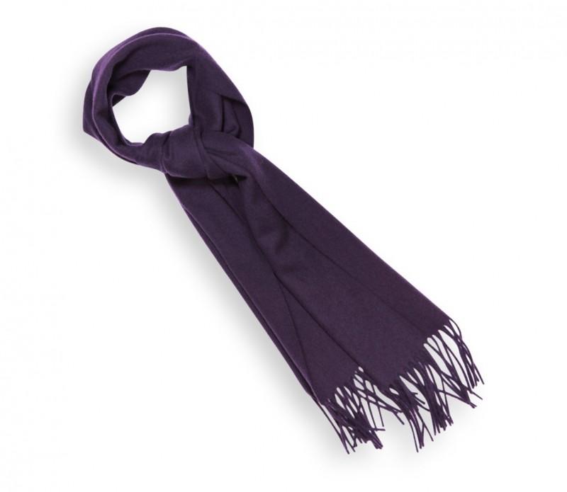 Echarpe unie en laine violette - Sacha
