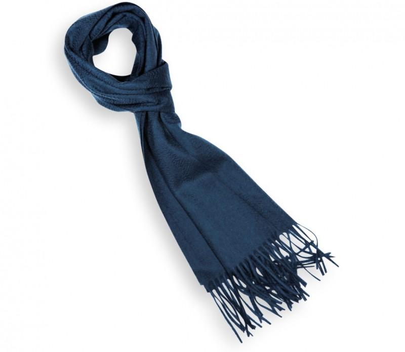 Echarpe unie en cachemire bleu acier - Swann