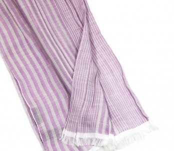 Pink and white striped scarf - Lilla