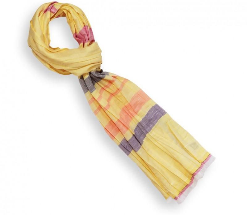 Foulard moutarde à motifs banyan tree - Mila