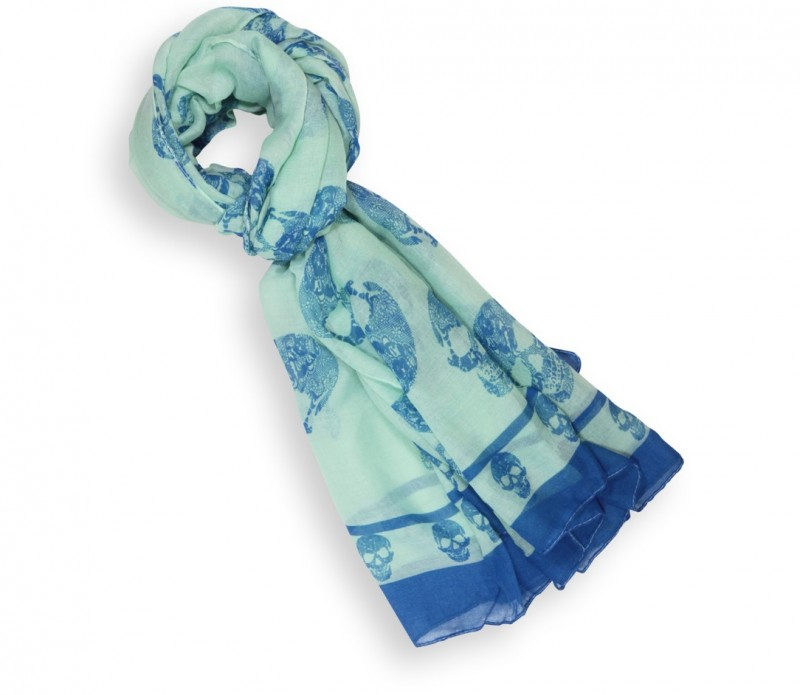Echarpe homme à rayures blanches et bleu marine - Suri