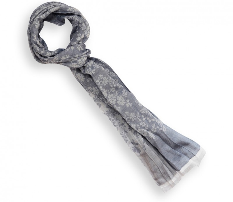 Echarpe grise tachetée - Jun