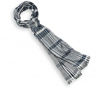 Blue Prince of Wales Check Scarf - Knightsbridge