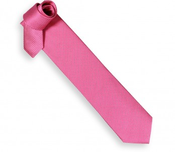 Hackett Candy Pink Tie with White Mini Dots
