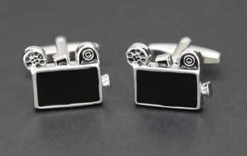Projector cufflinks - Pinewood