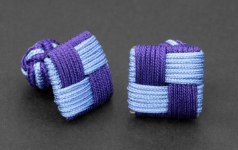 Light blue/violet Square silk knots - Manila