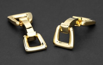 Stirrups gold cufflinks - Auteuil III