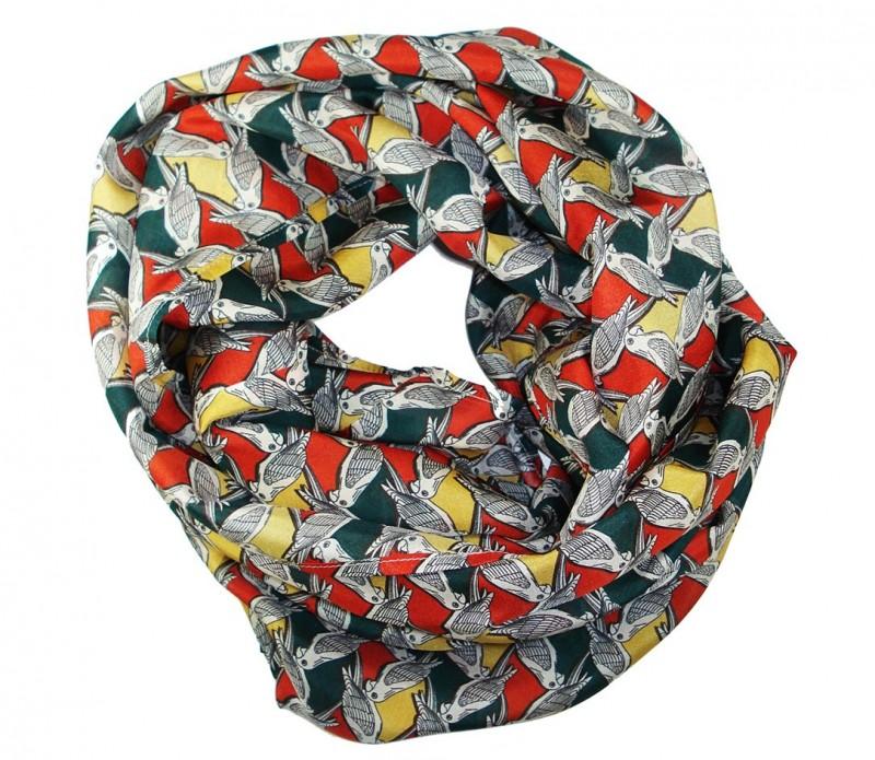Snood à motifs géométriques verts et noirs - Ingunn