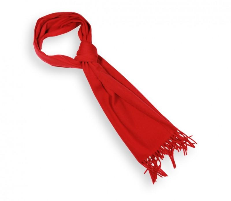 Echarpe unie en laine rouge - Sacha