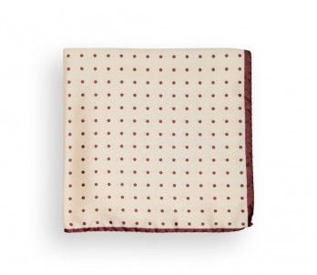Beige with Brown Dots Pocket Square - Capri II