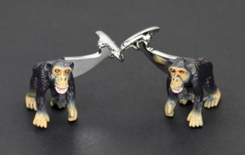 Monkey cufflinks - Bonobo